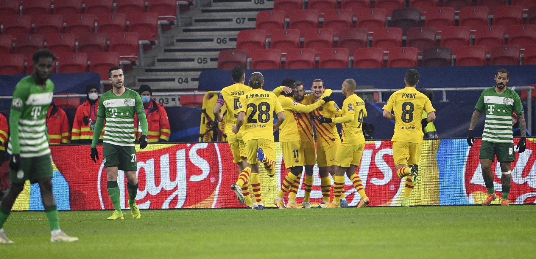 Barca defeated again Fradi in the Puskás Arena